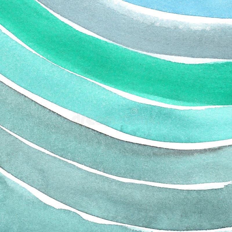 手画水彩背景 水彩污点和线 免版税图库摄影