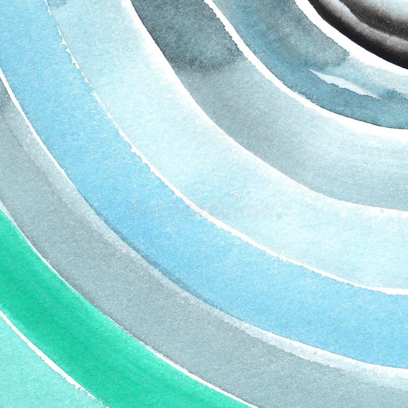 手画水彩背景 水彩污点和线 免版税库存照片