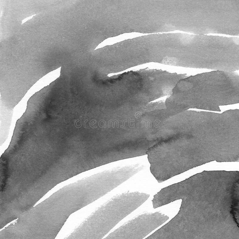 手画水彩背景 水彩污点和线 图库摄影