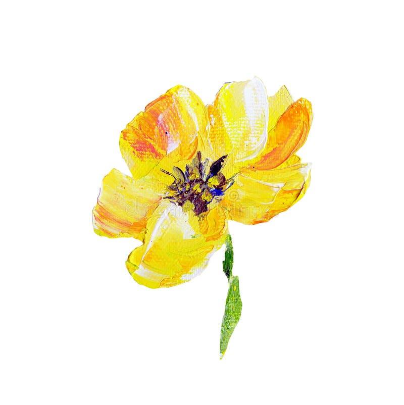 手画现代样式黄色花 皇族释放例证