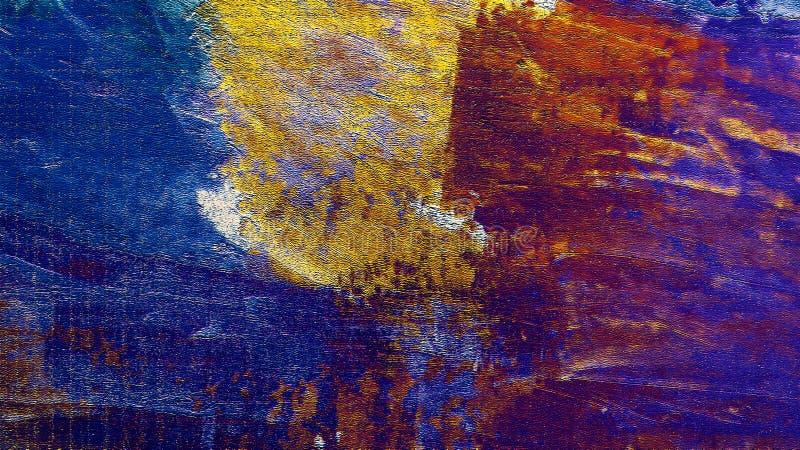 手画织地不很细纸 墨迹冲程 背景脏织地不很细 纸土气 厚实的油漆飞溅艺术 向量例证