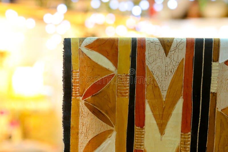 手画蜡染布织品样式 库存图片