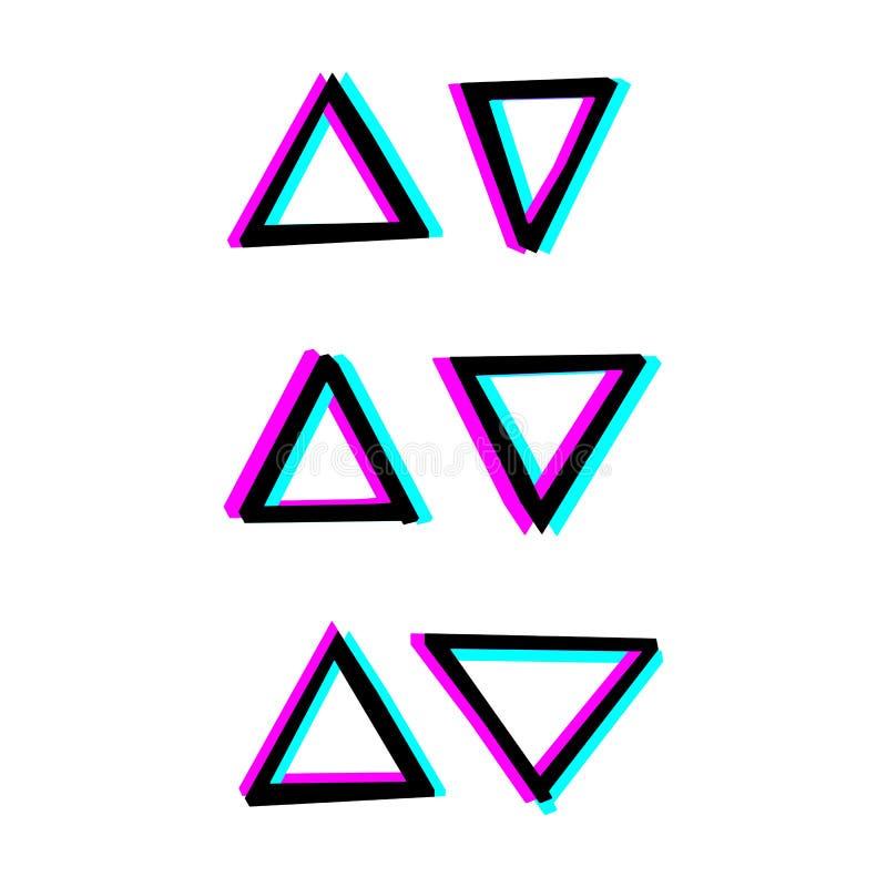 手画装饰几何形状 向量例证