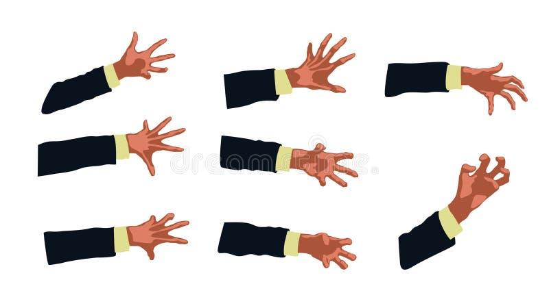 手的图片 向量例证