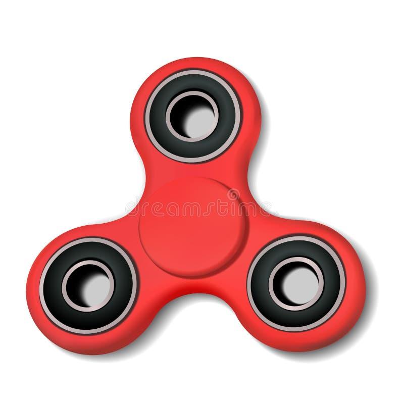 手的锭床工人 应力消除坐立不安玩具平的象用途在网站,广告,营销,促进,小册子 库存例证