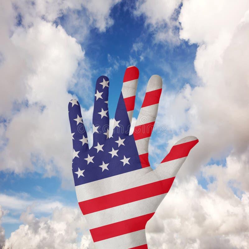 手的综合图象有延长的手指的 图库摄影