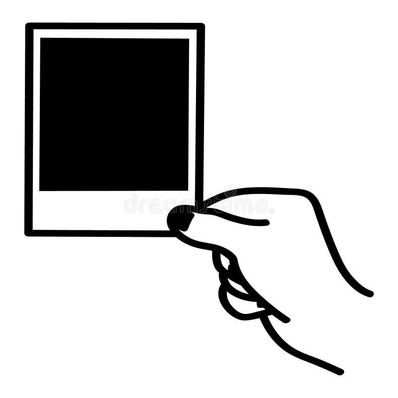 手相框由crafteroks的传染媒介例证 库存例证