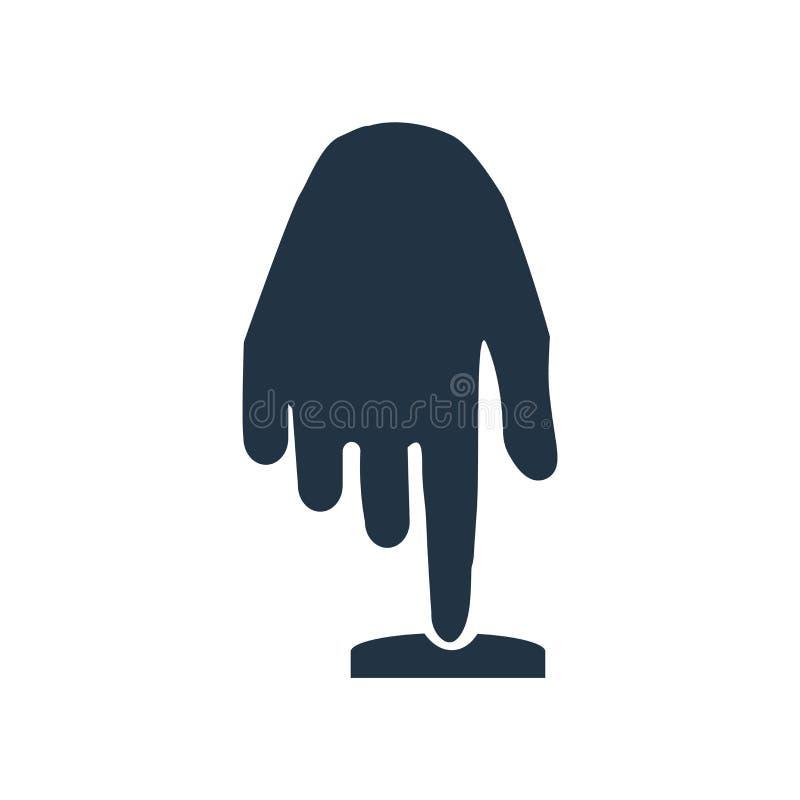 手移动在白色背景隔绝的象传染媒介,手移动标志 向量例证