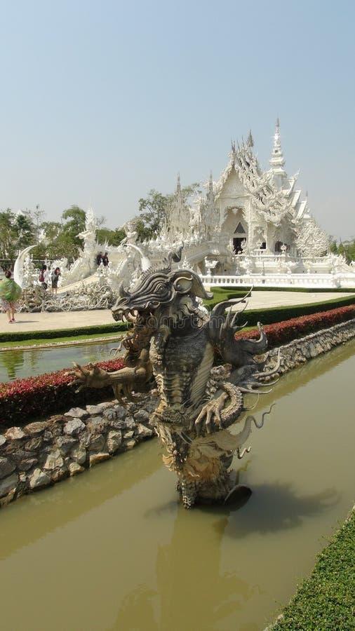 手细节在白色寺庙& x28的;wat rong khun& x29;清莱 免版税库存图片