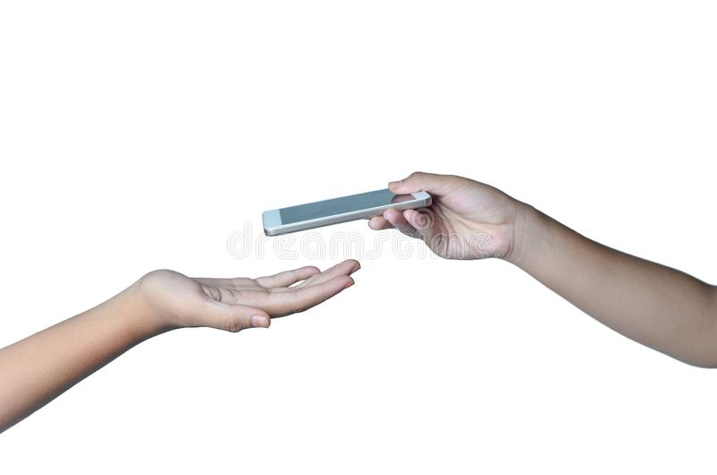 手给,并且手接受 免版税库存照片