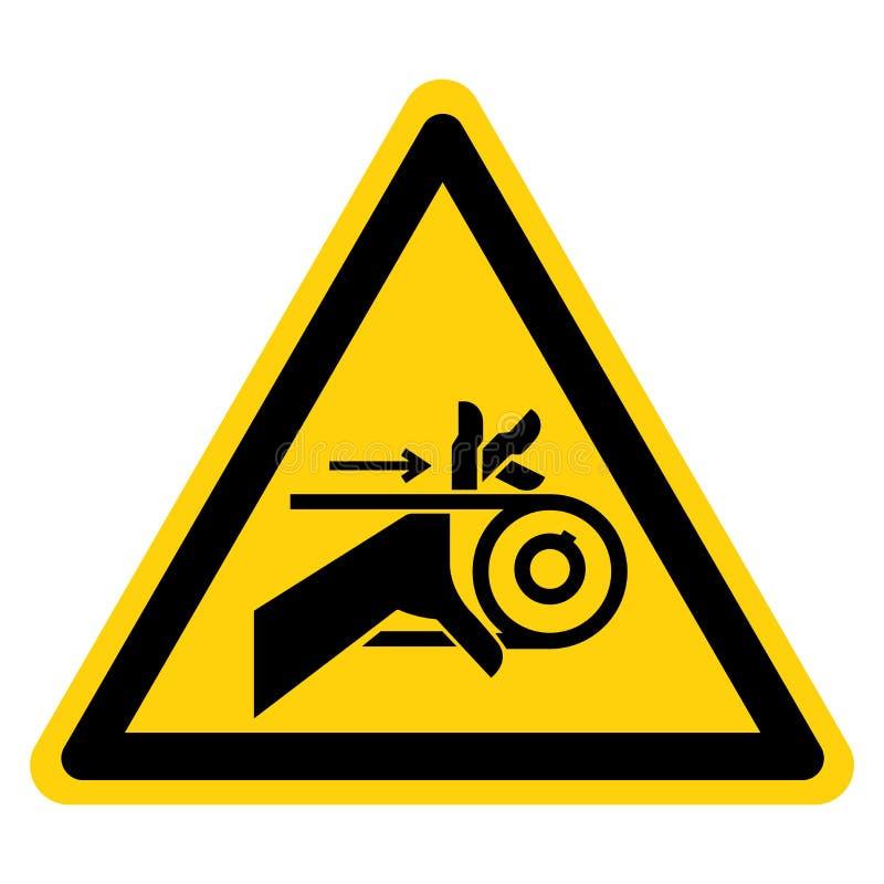 手缠结皮带传动标志在白色背景,传染媒介例证的标志孤立 向量例证