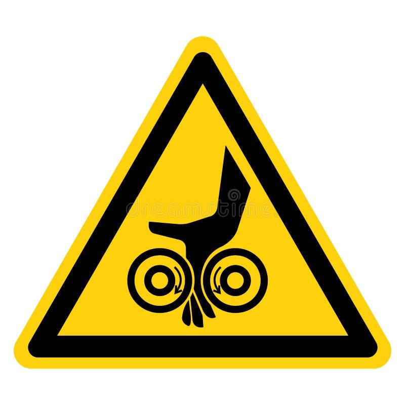 手缠结路辗标志在白色背景,传染媒介例证的标志孤立 向量例证