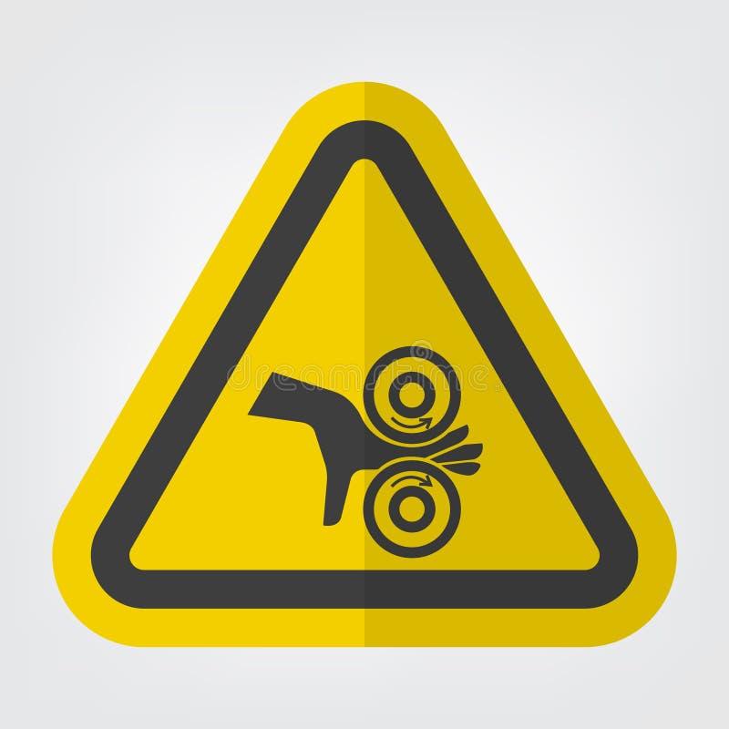 手缠结路辗标志在白色背景,传染媒介例证EPS的标志孤立 10 向量例证