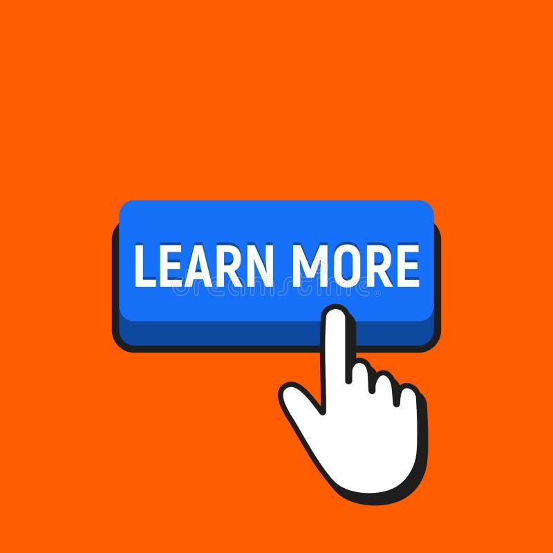 手老鼠游标点击学习更多按钮 向量例证