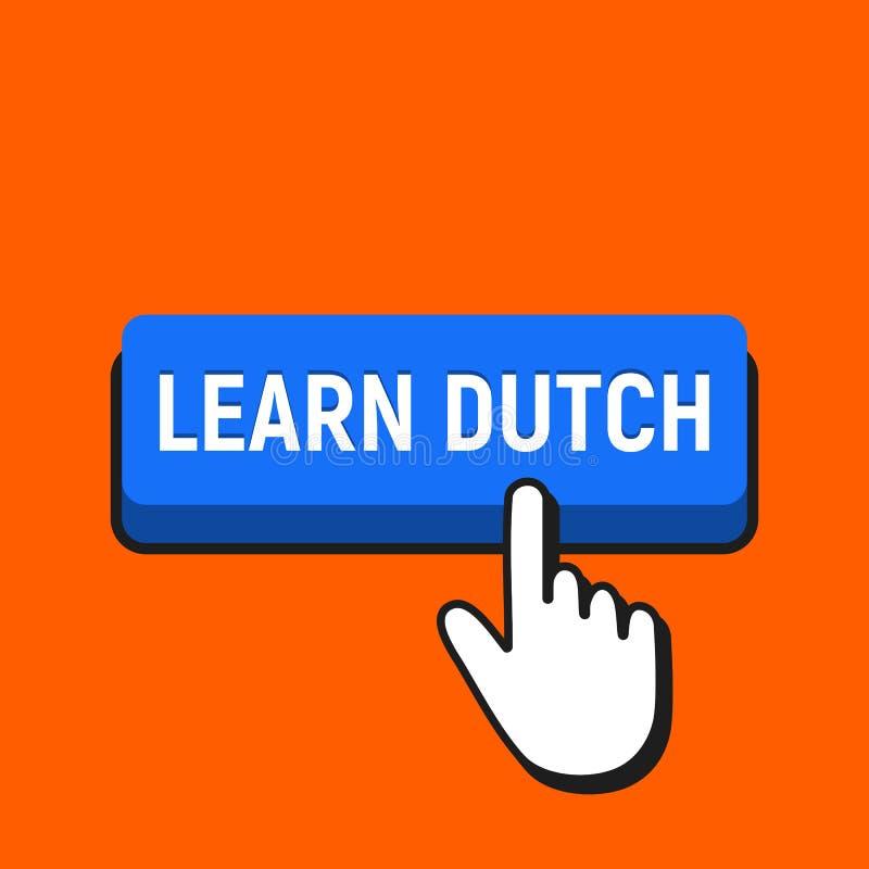 手老鼠游标点击学习荷兰人按钮 向量例证