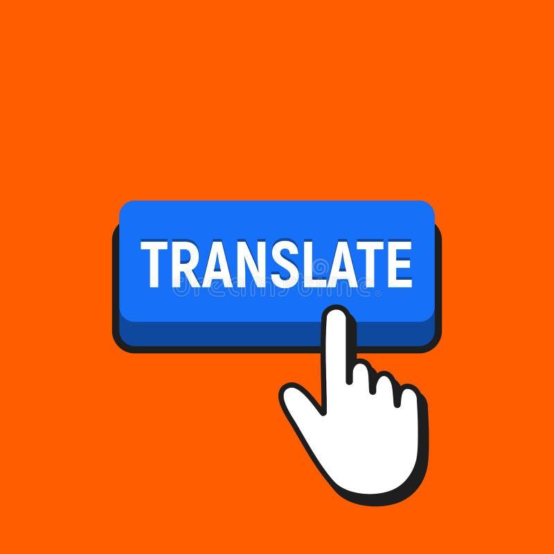 手老鼠游标点击翻译按钮 库存例证
