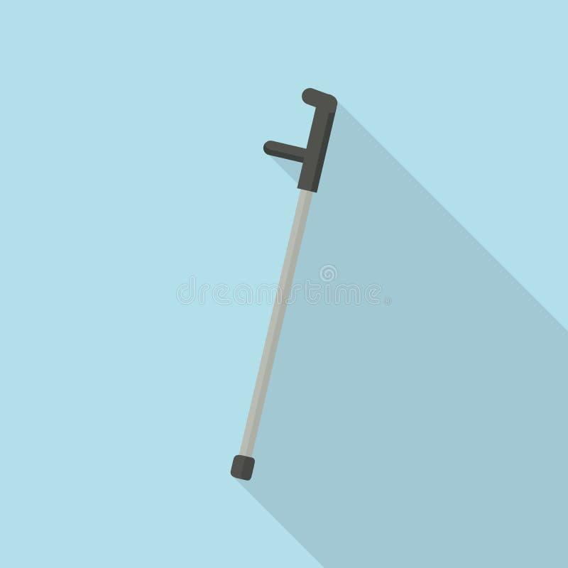 手肘拐杖象,平的样式 向量例证