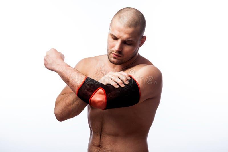 手肘的伤害 库存照片