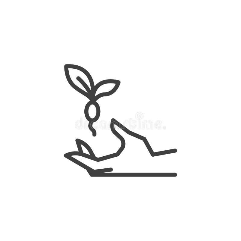 手藏品植物线象 库存例证