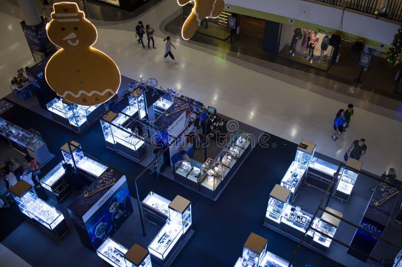 手表在中央节日清迈的促进地区 库存图片