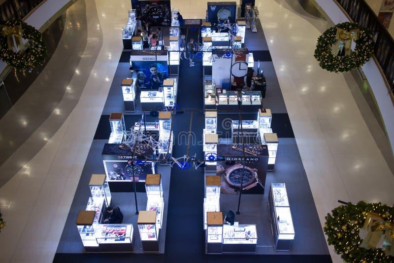 手表在中央节日清迈的促进地区 库存照片