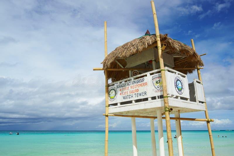 手表塔在博拉凯海岛 免版税库存照片