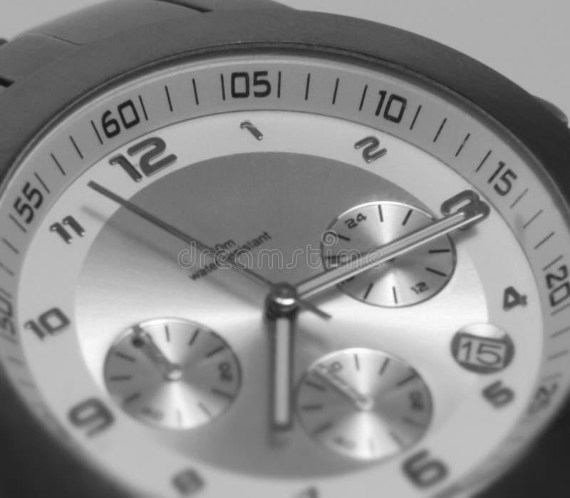 手表时钟表盘细节 免版税库存照片