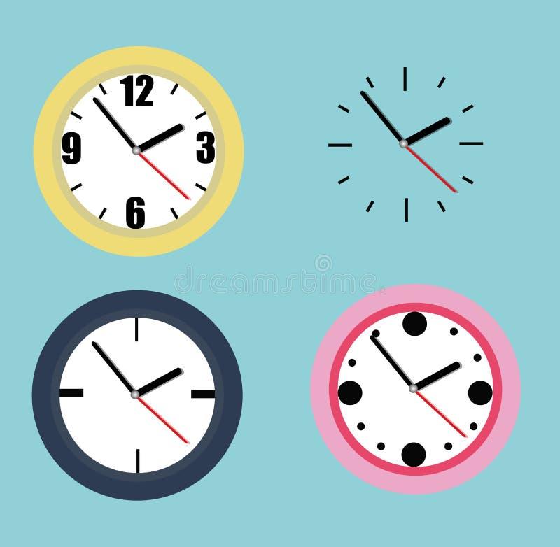 手表的汇集 向量例证