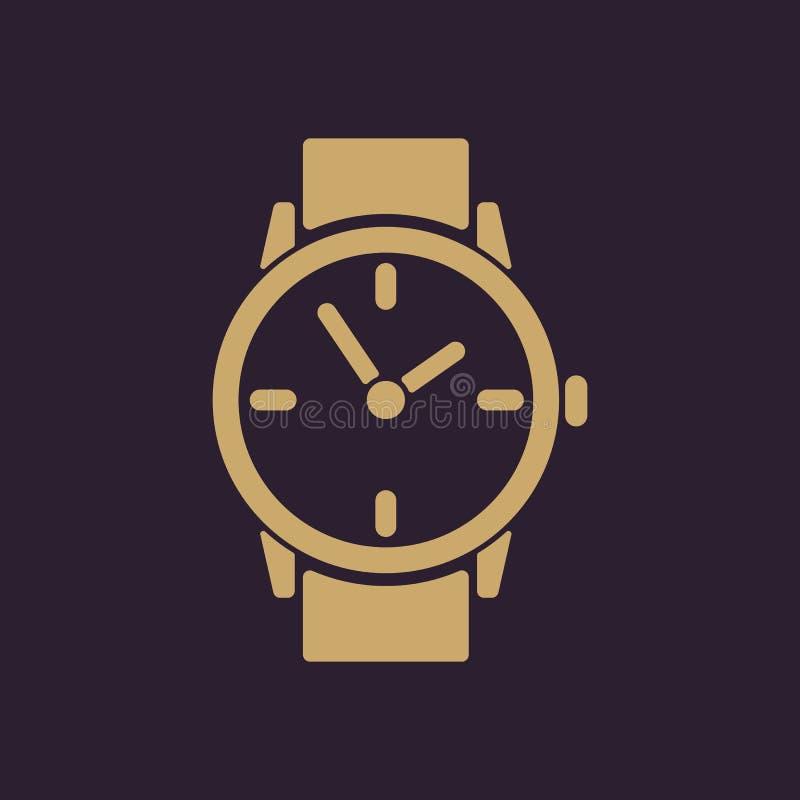 手表象 时钟和手表,定时器,时间,秒表标志 平面 向量例证