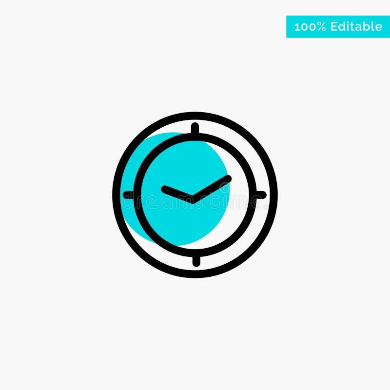 手表,时间,定时器,时钟绿松石聚焦圈子点传染媒介象 皇族释放例证