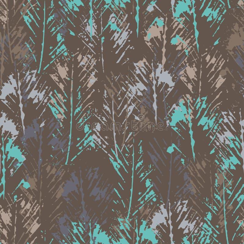 手被盖印的织地不很细抽象无缝的样式 向量例证