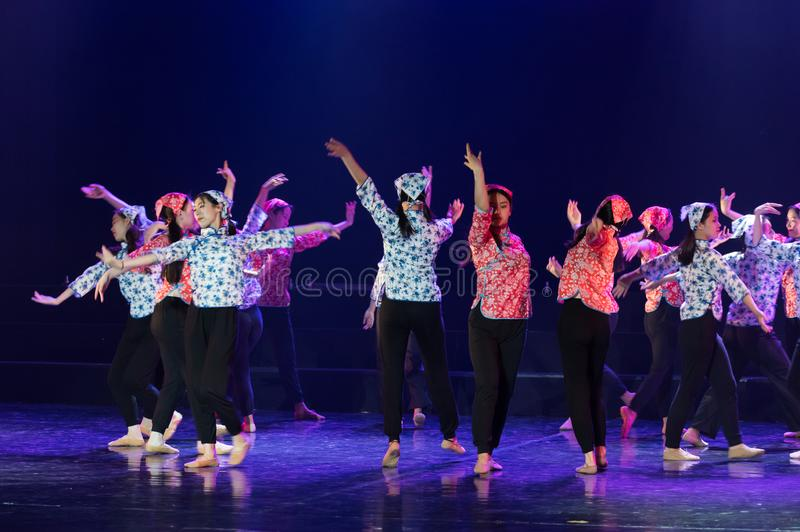 手语路线2丁香舞蹈戏曲 免版税图库摄影