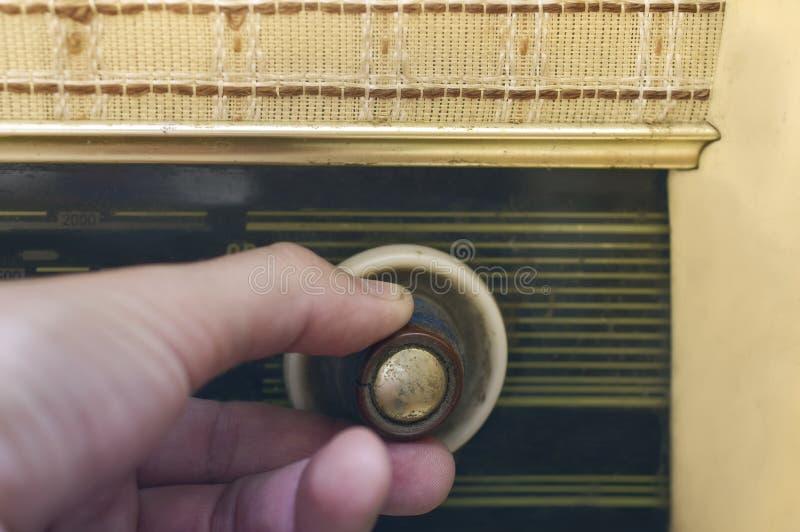 手调整的收音机 库存图片