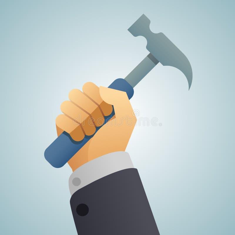 手锤子象 皇族释放例证