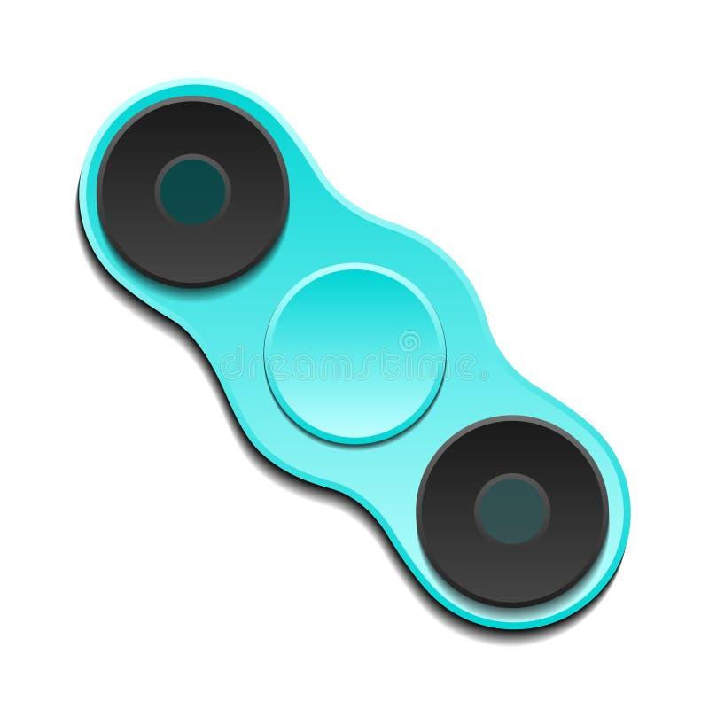 手锭床工人edc 增加的焦点的,应力消除坐立不安玩具 向量 库存例证