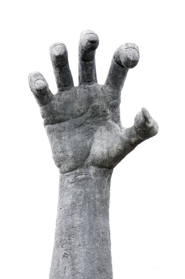手雕塑 库存照片