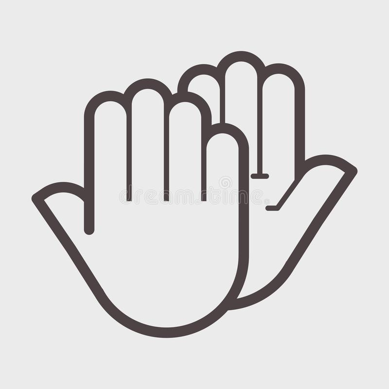 手震动姿态 库存例证