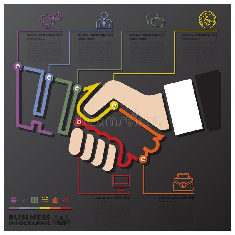 手震动连接时间安排事务Infographic 向量例证