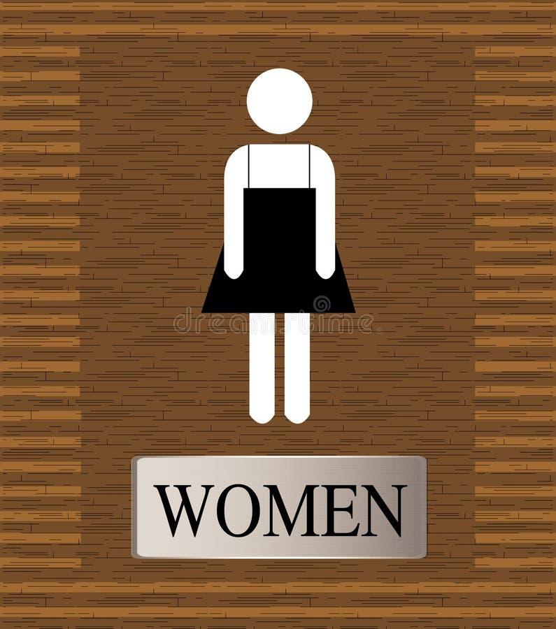 洗手间人的WC标志 免版税库存图片