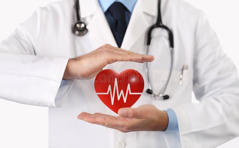 手医治保护心脏标志 免版税图库摄影