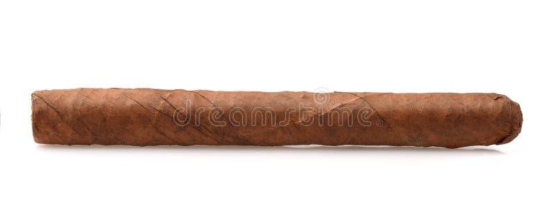 手滚动的雪茄侧视图  免版税库存图片