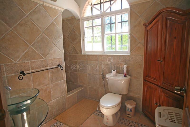 洗手间区域 免版税库存图片