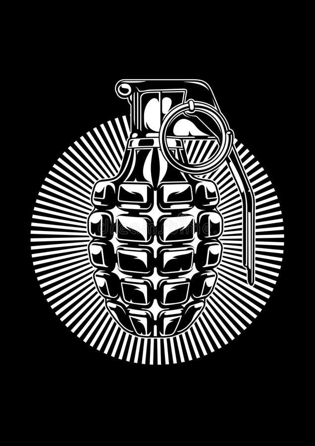 手榴弹 皇族释放例证
