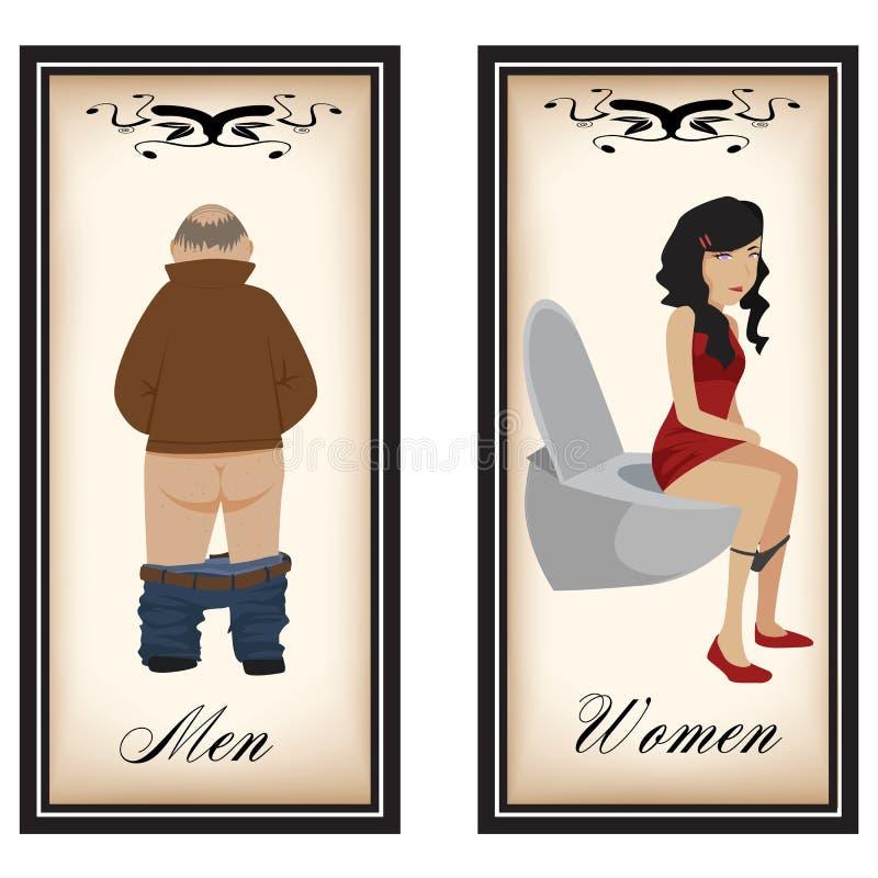 洗手间标志 库存例证