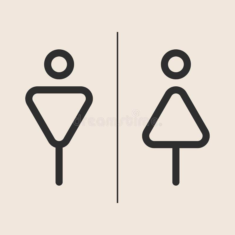 洗手间概念和想法象  冲程商标,网图表 背景 也corel凹道例证向量 免版税库存图片