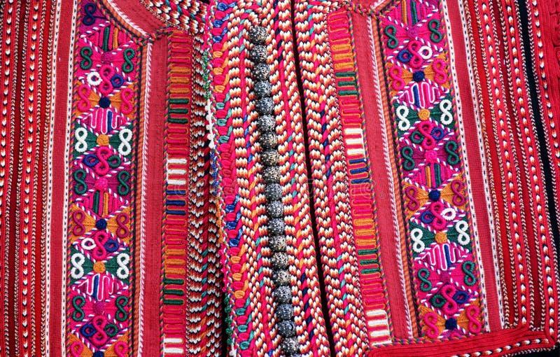 手织的传统马其顿背心 免版税库存图片