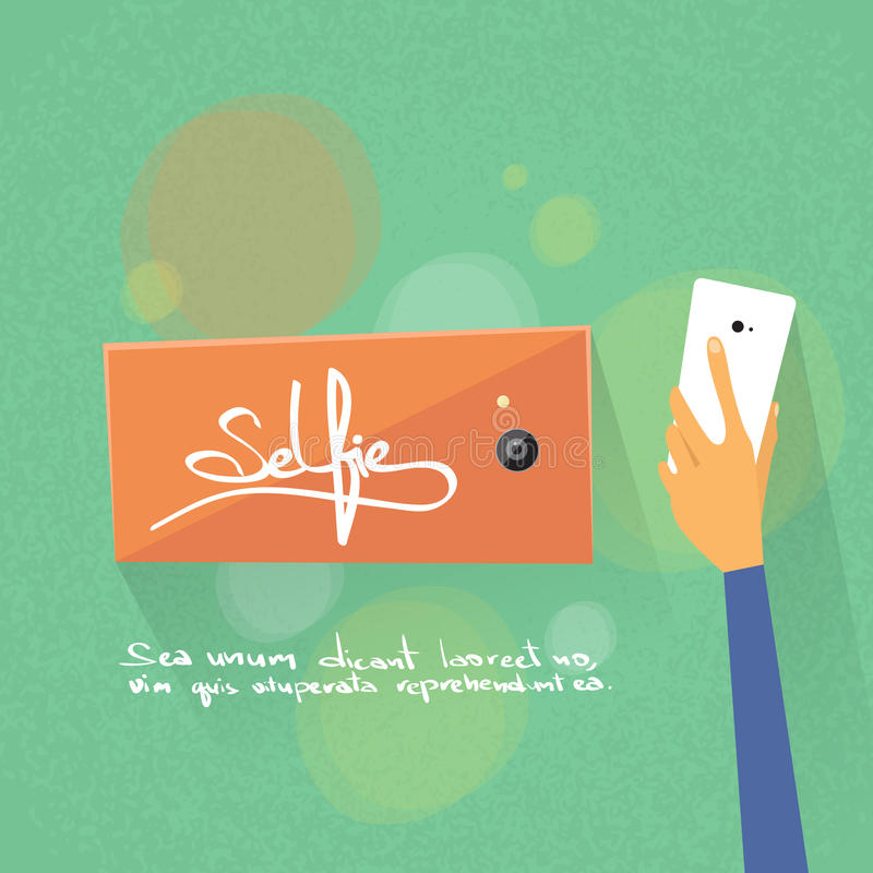 Download 手Selfie照片举行五颜六色的巧妙的电话 向量例证. 插画 包括有 概念, 通信, 背包, 现代, 设计 - 62525664