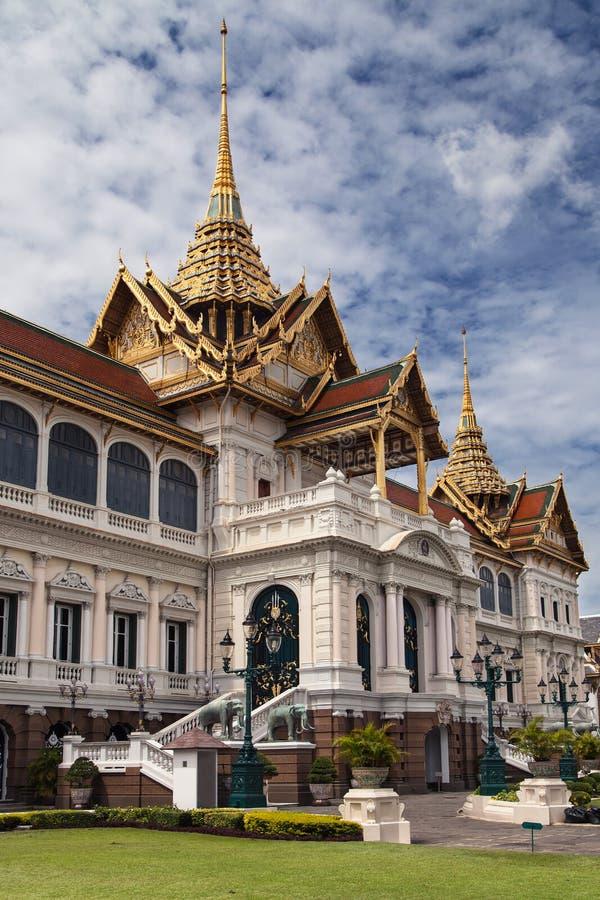 扎克里玛哈Prasat在曼谷曼谷大皇宫 图库摄影