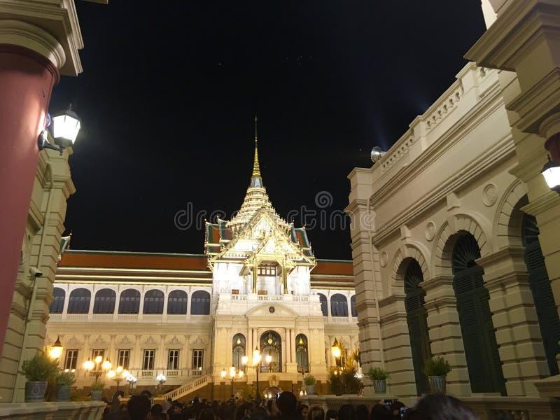 扎克里玛哈Prasat王位霍尔,泰国的曼谷大皇宫 库存照片