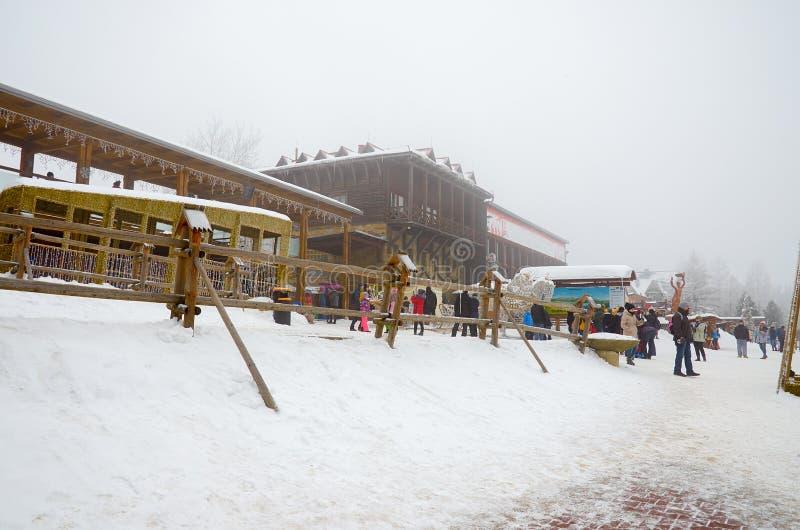 ?? 扎科帕内 滑雪场在扎科帕内 2018年2月22日 图库摄影